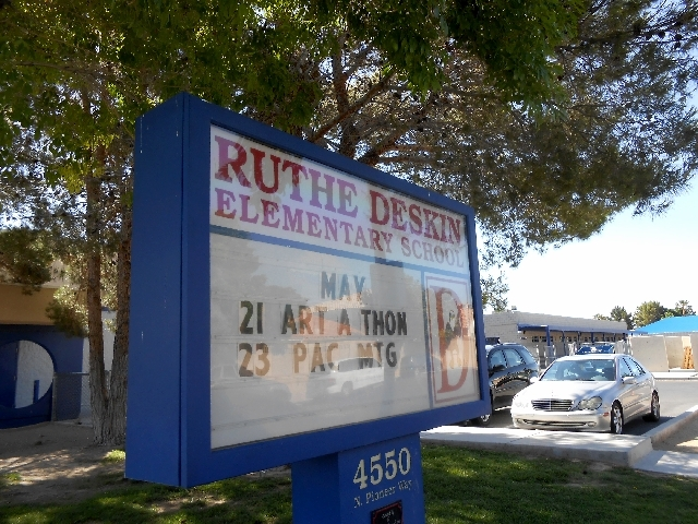 Deskin Elementary School, 4550 N. Pioneer Way, is named for Ruthe Deskin, who worked for the Las Vegas Sun for 50 years and had a major impact on Las Vegas.