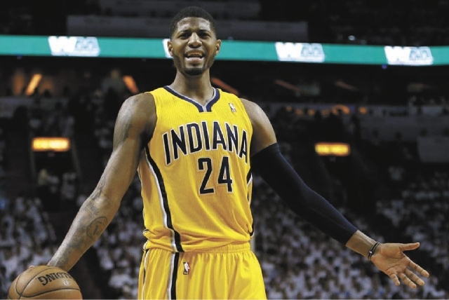 Paul George played brilliantly in Game 1 against the Heat, but his defensive blunder late cost the Pacers the victory.