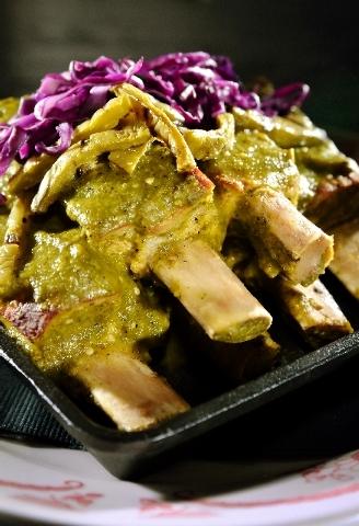 The costillas en salsa verde (spare ribs in green sauce) is on the menu at La Comida at 100 Sixth St. in Las Vegas.