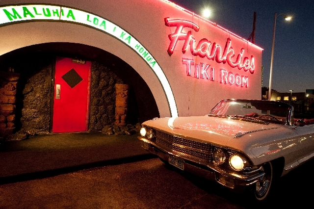 Frankie's Tiki Room, just west of Interstate 15 at 1712 W. Charleston Blvd., occupies the former Frankie's Bar & Cocktail Lounge. Owner P Moss said while he wanted to create a tiki bar, he wanted  ...
