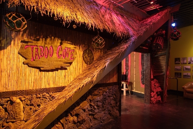 Frankie's Tiki Room owner P Moss and Bamboo Ben sat at a bar and designed the interior of the lounge on a napkin.