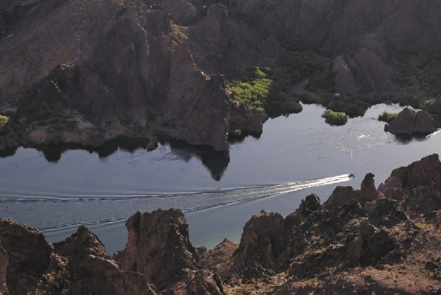 The Reclamation and Nevada Conservation Corps Collaborative will restore habitats and maintain trails along the Colorado River, shown here, between Boulder City and Laughlin.
