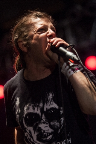 Flag frontman Keith Morris performs at Punk Rock Bowling in Las Vegas on Monday.