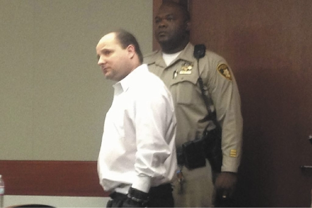 Gregory Hover, shown here in court Tuesday, has been convicted of multiple crimes, including two counts of first-degree murder and one count of attempted murder.