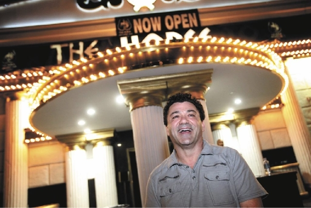 Owner Mike Galam is seen in front of The Horse, the site of the former Crazy Horse Too, on Industrial Road in Las Vegas on Thursday, May 30, 2013. The strip club is set to hold a grand opening par ...
