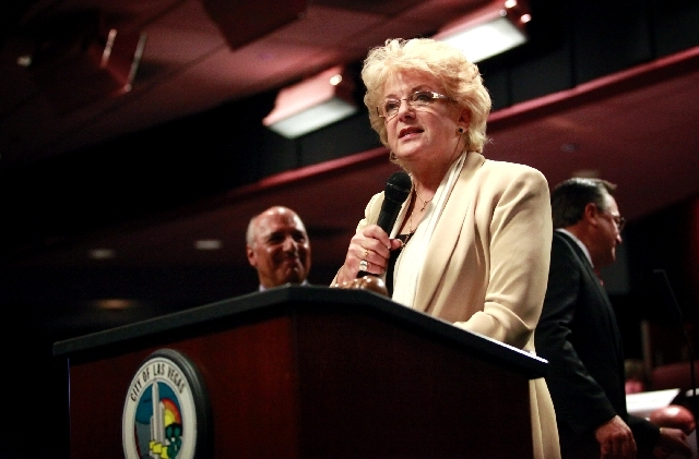 Las Vegas Mayor Carolyn Goodman speaks  at City Hall in Las Vegas.