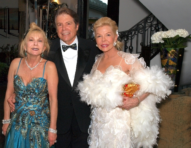 Barbara Lee and Bruce Woollen, from left, and Lois Pope