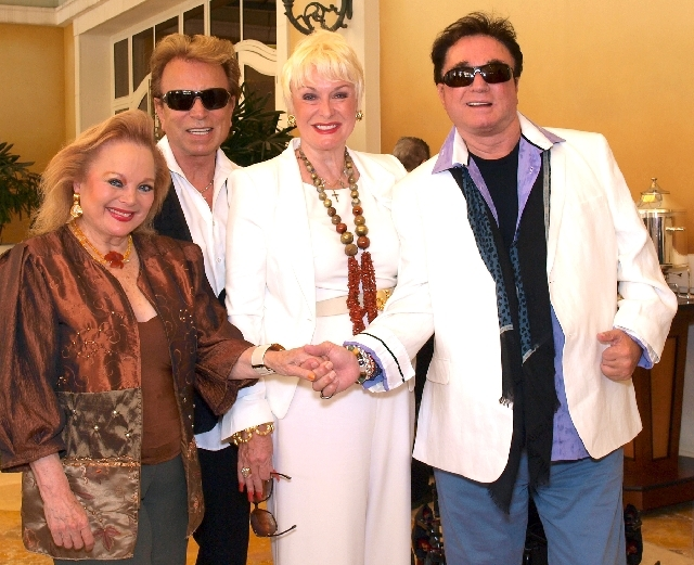 Carol Connors, from left, Siegfried Fischbacher, Lynette Chappell and Roy Horn