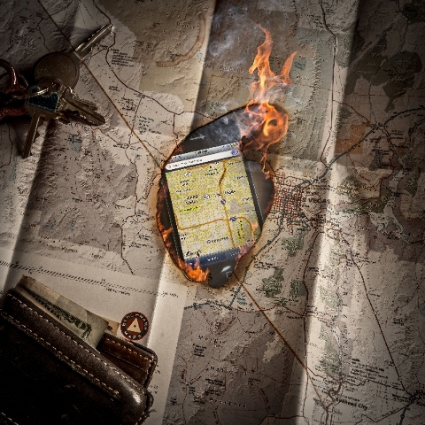 GPS devices and smartphone maps are threatening to make paper maps obsolete.