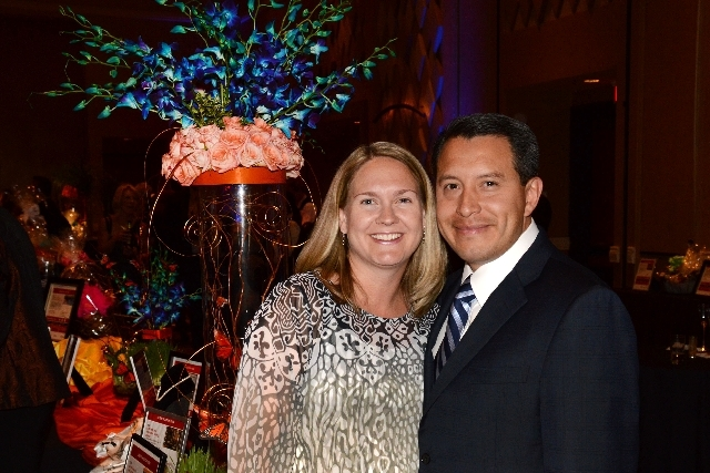 Gala Chair Edgar Patino is shown with his wife, Iben.