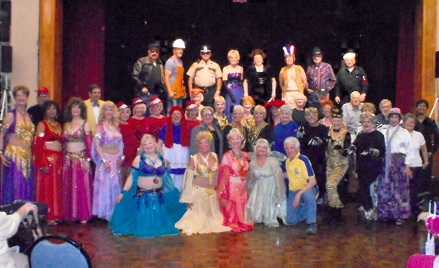 """Cast members from """"Remember When,"""" Sun City MacDonald Ranch's 15th annual variety show performance, celebrate their successful run May 3-5 at the Desert Willow Community Center."""