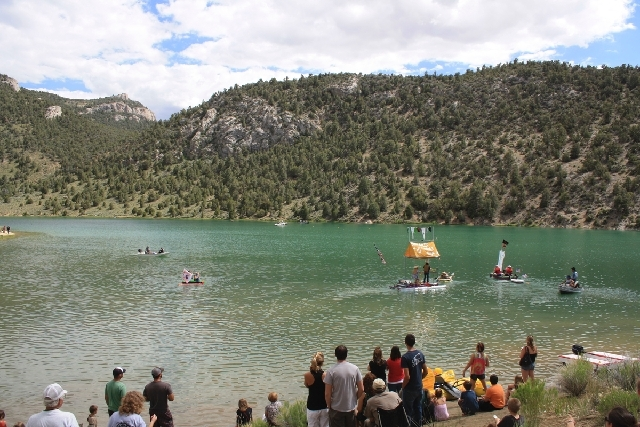 Cave Lake State Park is the place to be on June 22 for the annual Cocktails and Cannons, which features the Great Bathtub Races, seen here.
