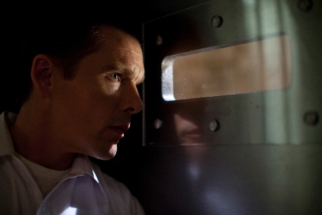 """Ethan Hawke stars as a protective father in """"The Purge."""""""