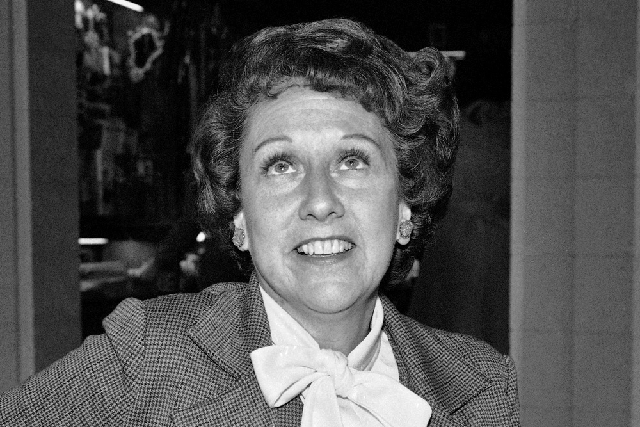 "Actress Jean Stapleton speaks during an interview in 1977, saying she will increase speaking out to the ""Edith Bunkers"" of the land to try and muster support for the Equal Rights Amendment. Staple ..."