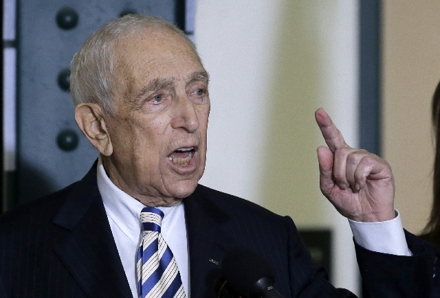 Sen. Frank Lautenberg, the oldest member of the Senate, speaks in February in his hometown of Paterson, N.J. The multimillionaire businessman and liberal who was called out of retirement for a sec ...