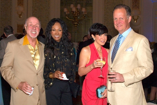 Bob and Winnie Schulman, from left, and Vanessa and Josh Houssels