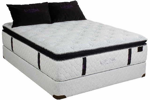 A recent survey revealed that a hybid mattress, such as this Lumina Cadence model, with a fabric-encased innerspring core and foam top, was more conducive to intimacy.