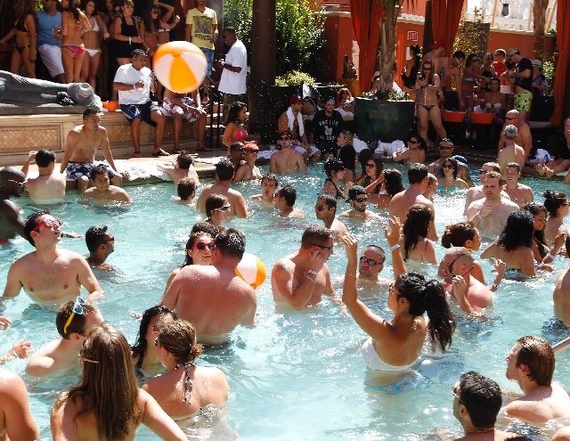 Patrons play at Tao Beach at The Venetian. The Rape Crisis Center and Tao Cares have partnered to introduce partysmartinlv.com, a website that teaches people how to stay safe while partying. Obser ...