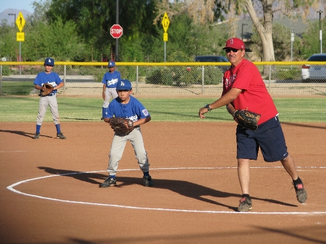 Alan Biddle, pictured, provided life-saving cardiopulmonary resuscitation for fellow Paradise Valley Little League coach Cody Bowman, father of league player Delfonza Bowman