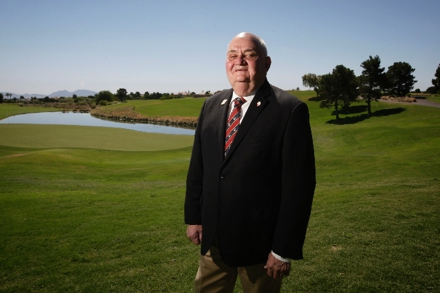 Gary Dunwoody is seen at the 18th hole at TPC Summerlin golf course in Las Vegas. Dunwoody is back as chairman of the Shiners Hospital for Children Open tournament and has big plans to make the it ...