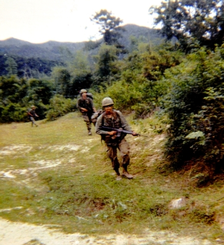 In an undated photo, Raymond Fafard is shown on foot patrol in Vietnam, where he served from March 31, 1970, to April 9, 1971.