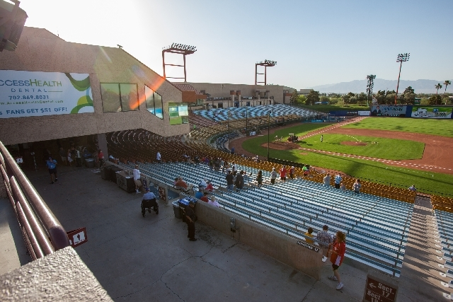 Fans begin making their way into Cashman Field for the 51s' game against the Tacoma Rainiers on Monday night. The condition and location of 30-year-old ballpark in downtown Las Vegas have made it  ...
