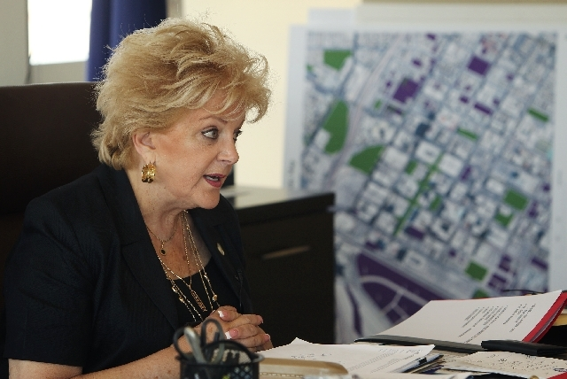 Mayor Carolyn Goodman speaks with the Review-Journal in her office at City Hall in Las Vegas on June 12.