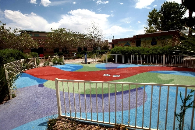 The five children played on this splash pad on the Child Haven campus before escaping from the facility Tuesday.