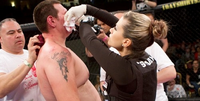 A passion for mixed martial arts eventually led Swayze Valentine to a career as the only female cut man in the sport.