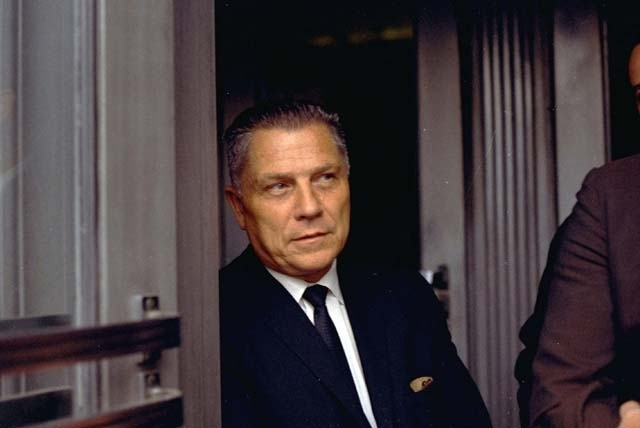 Teamsters Union leader James Hoffa is shown in Chattanooga, Tenn., in this Aug. 21, 1969 file photo. The FBI has saw enough merit in reputed Mafia captain Tony Zerilli's tip to once again break ou ...