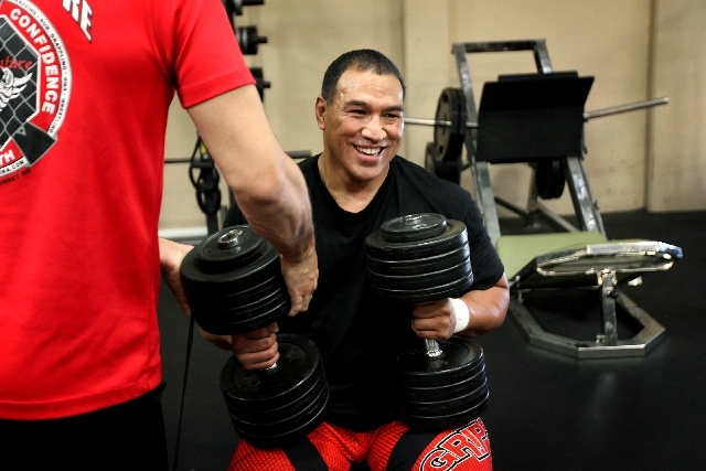 A bit of fun comes with hard training for WSOF President Ray Sefo, who says he loves what he does as an athlete and promoter.
