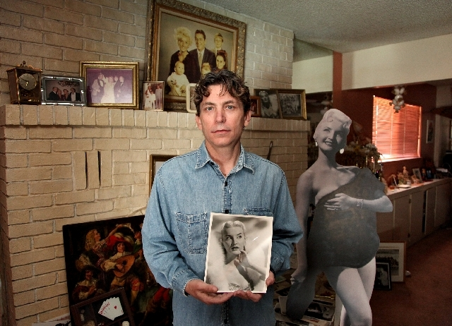 Kerry Krantz holds a photo Tuesday of his mother, Kim Krantz, who died earlier this month at the family home in Las Vegas. Kim Krantz was a longtime resident of Las Vegas. She was a dancer, appear ...