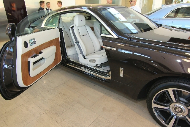 The new Rolls-Royce Wraith was showcased during a cocktail party.