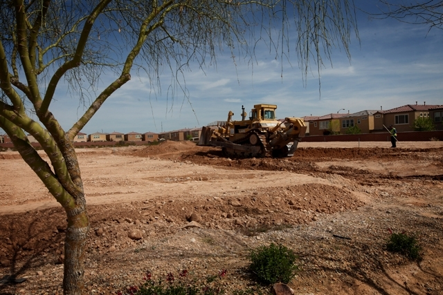 Lots at Serenada by Harmony Homes at Mountain's Edge on March 25. Southern Nevada's land market seems to have stabilized, with the west side seeing the biggest price increases.