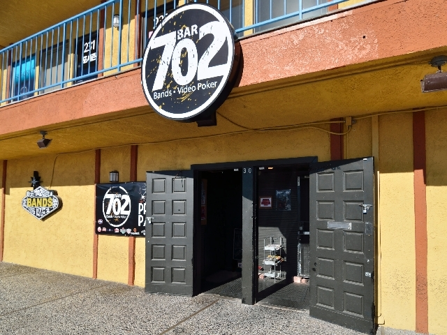 The exterior of Bar 702 at 3355 Spring Mountain Road in Las Vegas is shown on Wednesday.