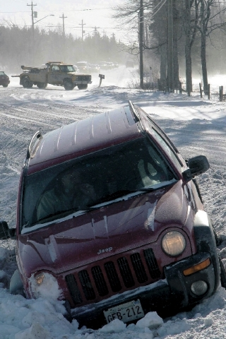 About 15.5 million tons of salt are applied to North American roads every winter.