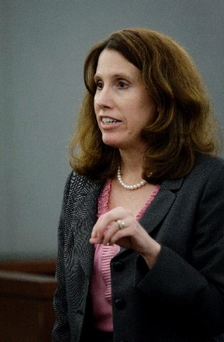 Chief Deputy District Attorney Pam Weckerly delivers the prosecution's closing arguments Thursday in the criminal trial of Dr. Dipak Desai and nurse anesthetist Ronald Lakeman at the Regional Just ...