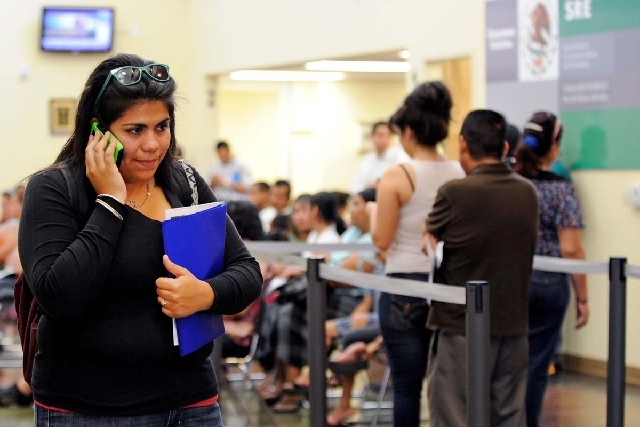 Astrid Silva, shown here in 2012 at the Mexican Consulate in Las Vegas, was a guest of U.S. Senate Majority Leader Harry Reid during the Senate vote on the immigration bill Thursday. Silva is a DR ...
