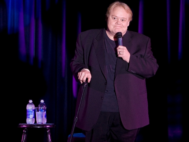 Comedian Louie Anderson performs during his show Larger than Life at the Excalibur hotel-casino, Wednesday, January 27, 2010 in Las Vegas, Nevada.