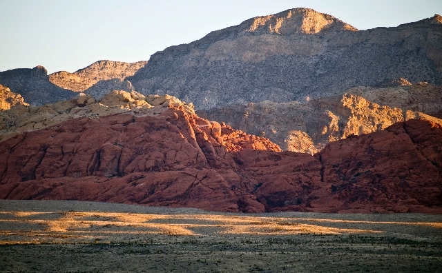 A hiker is in serious condition Tuesday after falling 40 feet in the Red Rock Canyon National Conservation Area.