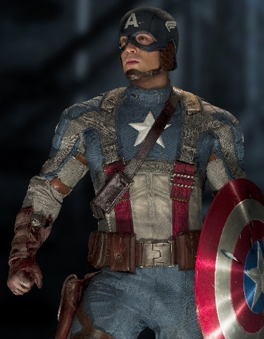 Chris Evans plays Captain America in CAPTAIN AMERICA: THE FIRST AVENGER, from Paramount Pictures and Marvel Entertainment.