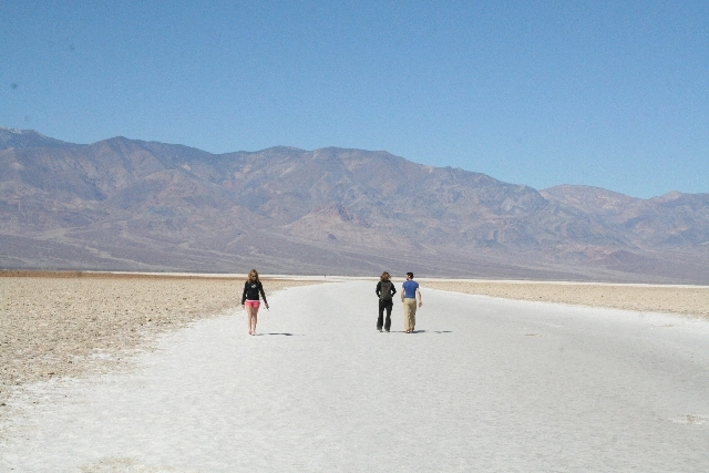 One of the most popular places to visit in Death Valley National Park, Calif., is Badwater Salt Flat, located at 282 feet below sea level.