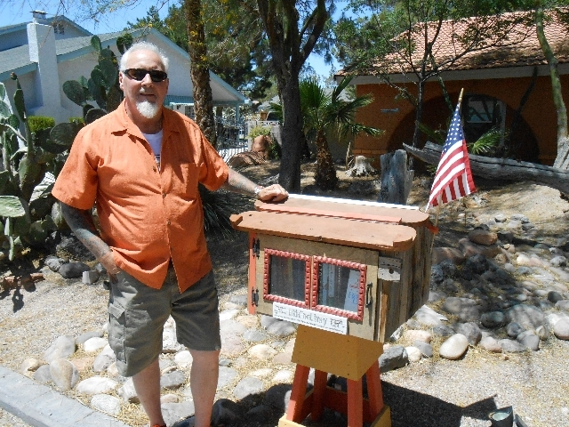 U.S. Air Force retiree Don Stormoen erected a Little Free Library in front of his northwest Las Vegas home after reading about the organization on the Internet. Stormoen said he tries to keep the  ...