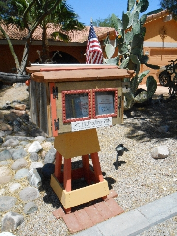 Don Stormoen said his Little Free Library, which is dedicated to the memory of his sister Beverly, is frequented by teens and moms with kids.