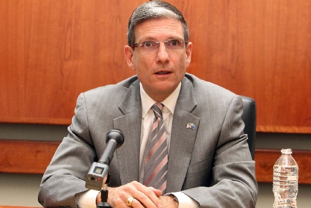 U.S. Rep. Joe Heck, shown in this file photo, hosted a town hall forum at the Windmill Library on Tuesday.