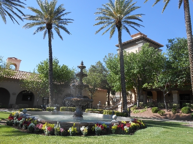 The exterior of the Mountain Shadows Community Center, 9107 Del Webb Blvd., is seen May 31. The 24-year-old facility began a renovation in June.
