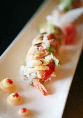 Sasa Sushi's Sasa roll has two types of shrimp, avocado, cream cheese, salmon, toasted mayo, sriracha and eel sauce.