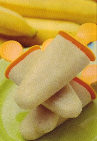 """The recipe for banana ice pops is found in """"200 Best Ice Pop Recipes"""" by Andrew Chase."""