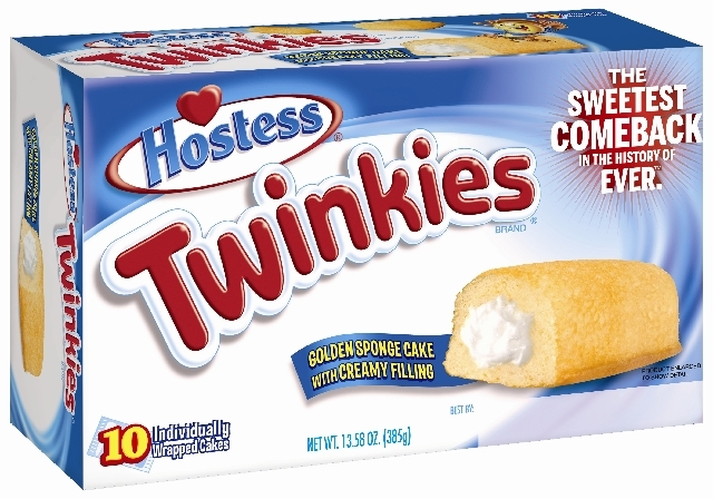 This undated image provided by Hostess Brands LLC shows a box of Twinkies.