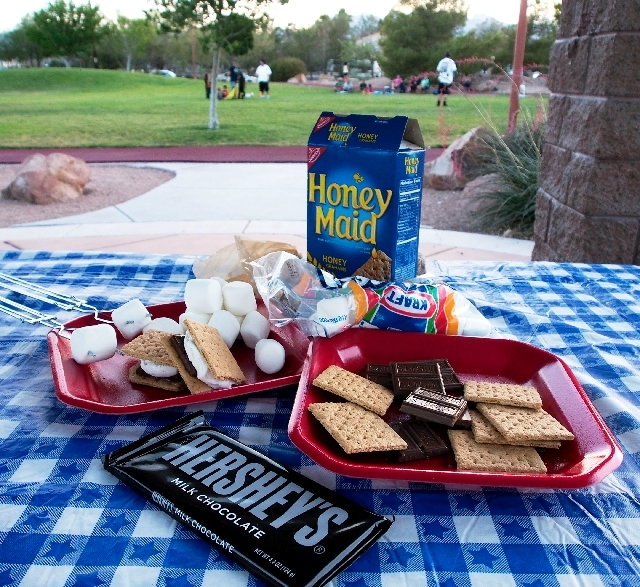 The ingredients for s'mores are easy to gather and easy to assemble.